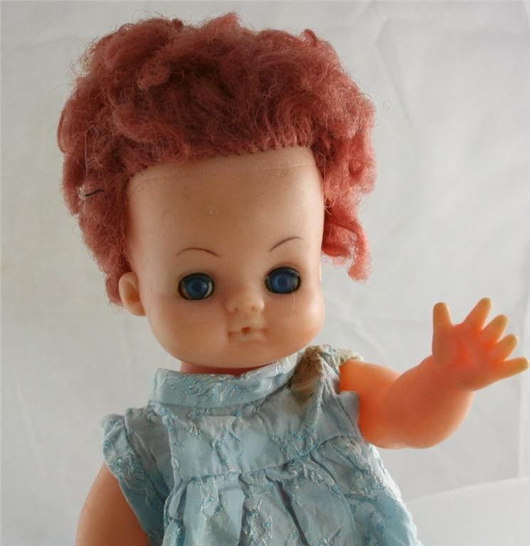 vintage doll, drink, wet, toy, vinyl
