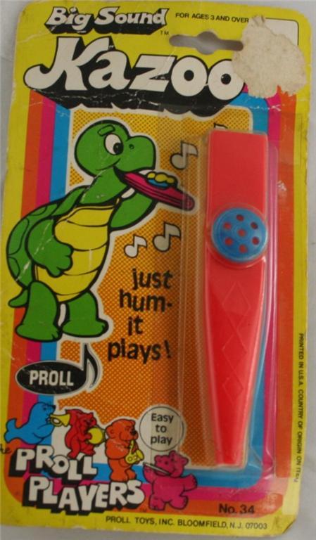 vintage toy, kazoo, original package, Proll
