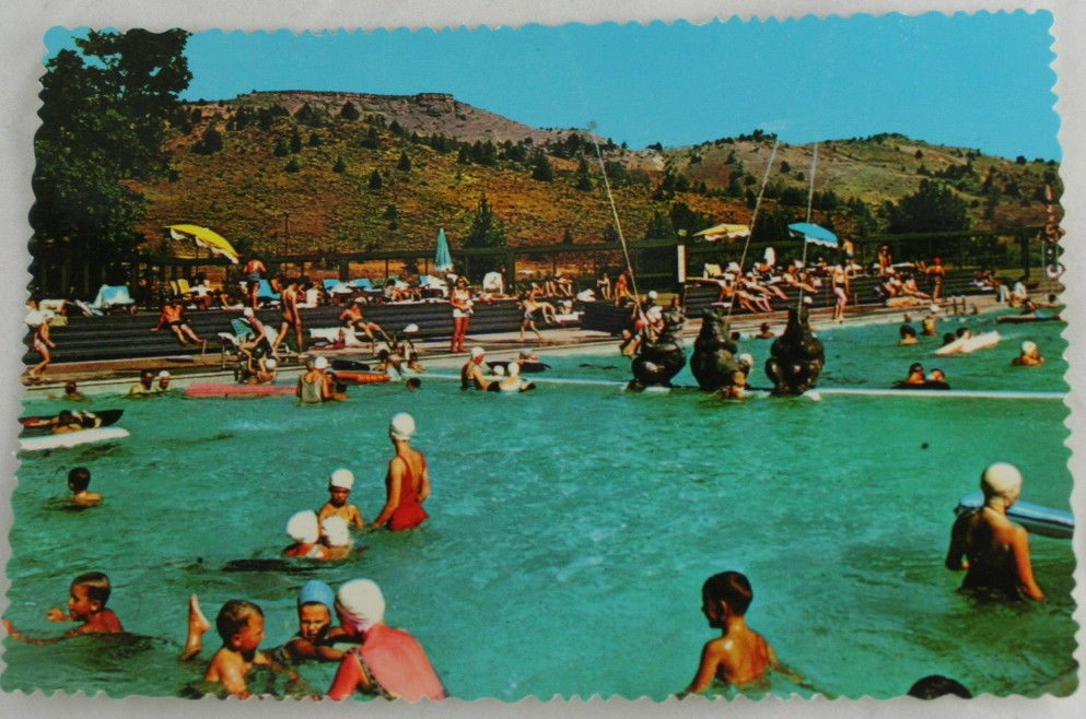 vintage postcard, Oregon, Kah-Nee-Tah, Resort, Warm Springs