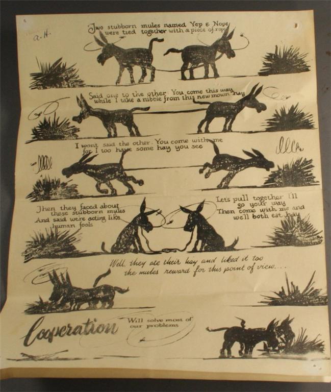 vintage ephemera, bulletin, Cooperation