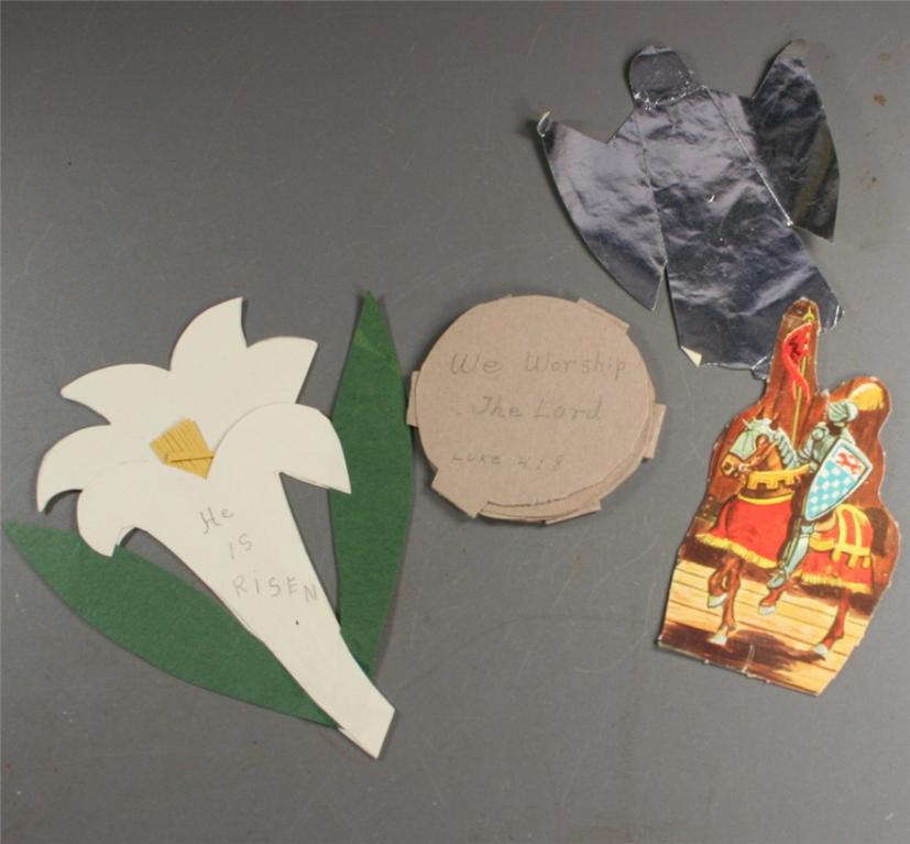 vintage paper, sunday school, cutouts, die cut