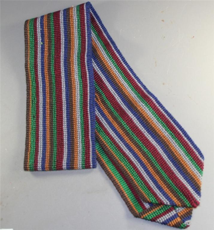 vintage belt, handwoven, stripe