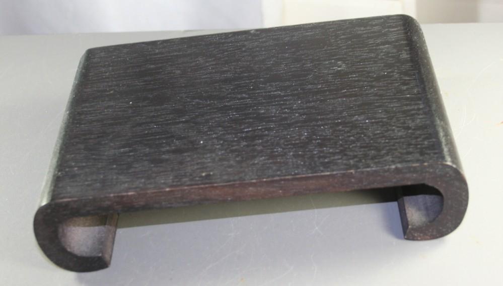 vintage wood stand, pedistal, oriental, black
