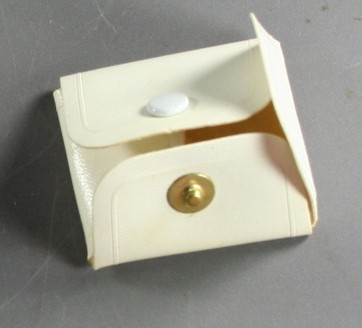 vintage gift box, vinyl, snap close, jewelry, fold up