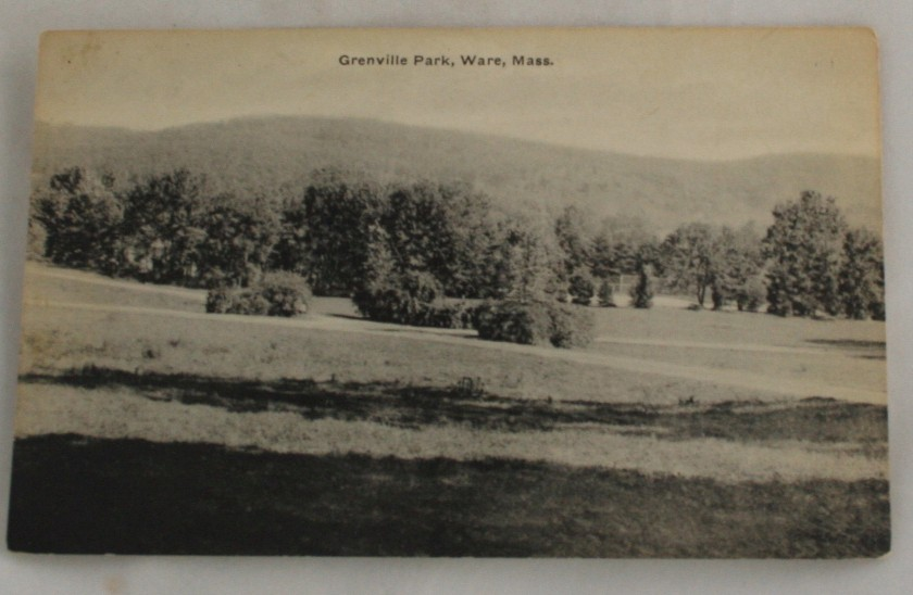 vintage postcard,Ware,Massachussets,MA,black,white, black & white, black and white