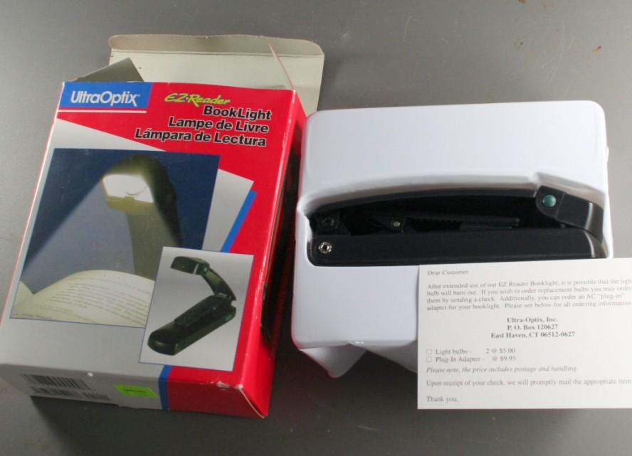 booklight, book light, EZ Reader, battery operated
