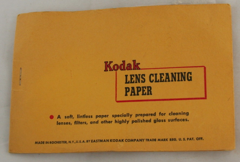 vintage camera accessory,Kodak, lens paper