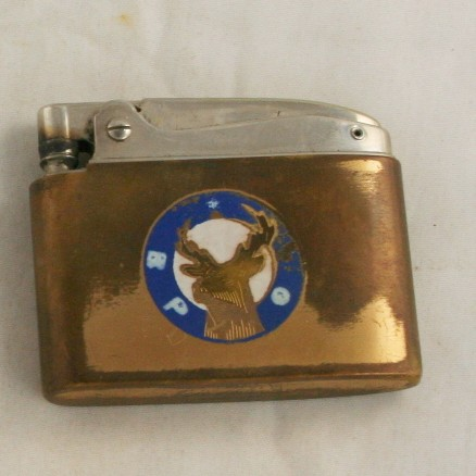 vintage lighter, Elks, fraternal, Elgin Americana