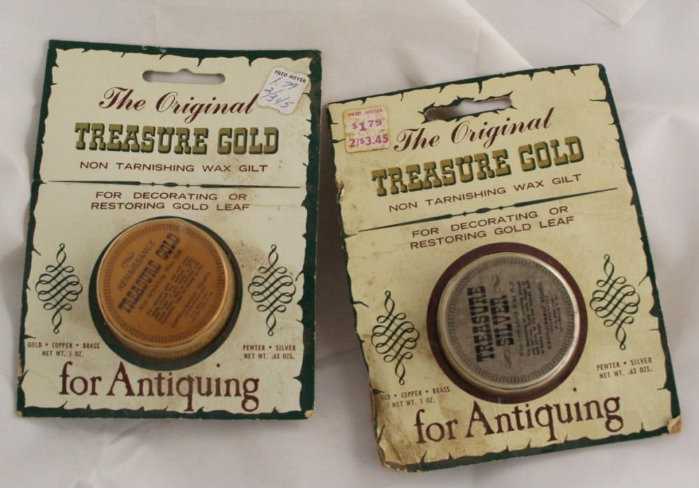 vintage wax, The Original Treasure Gold, silver, renaissance gold, red gold, gilt restoration, gold leaf