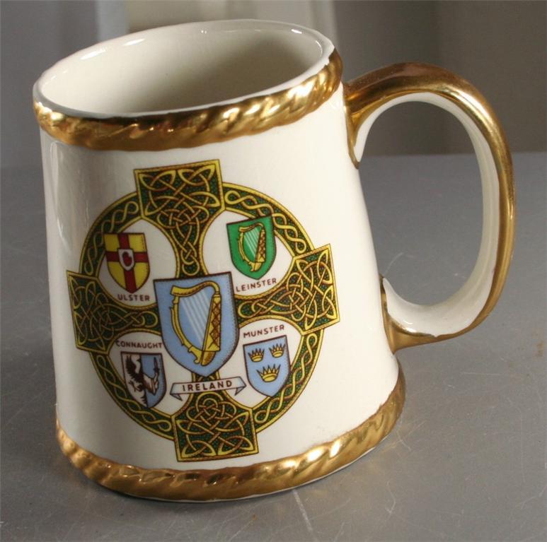 vintage coffee mug, cup, Ireland, souvenir, travel