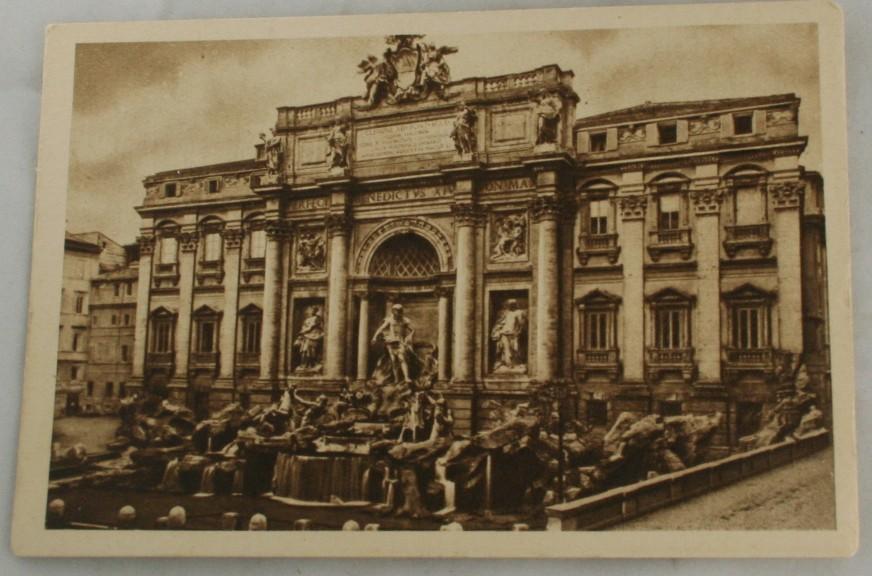 vintage postcard, sepia tone, sepia, brown tone,Rome, Italy