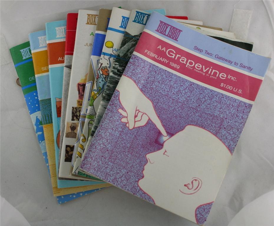 vintage magazines, AA Grapevine, 1989