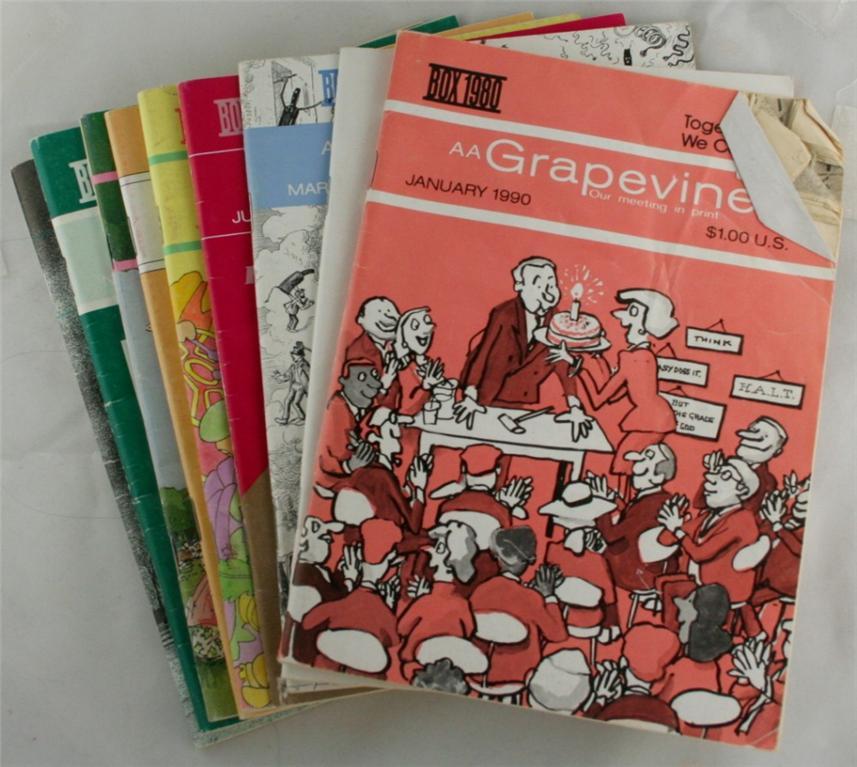 vintage magazines, AA Grapevine, 1990