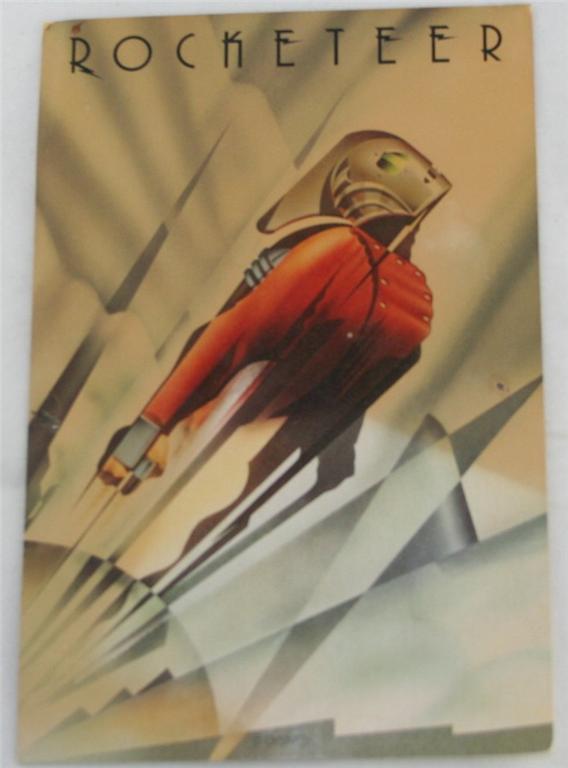 vintage postcard,movie memoribilia, The Rocketeer,Disney