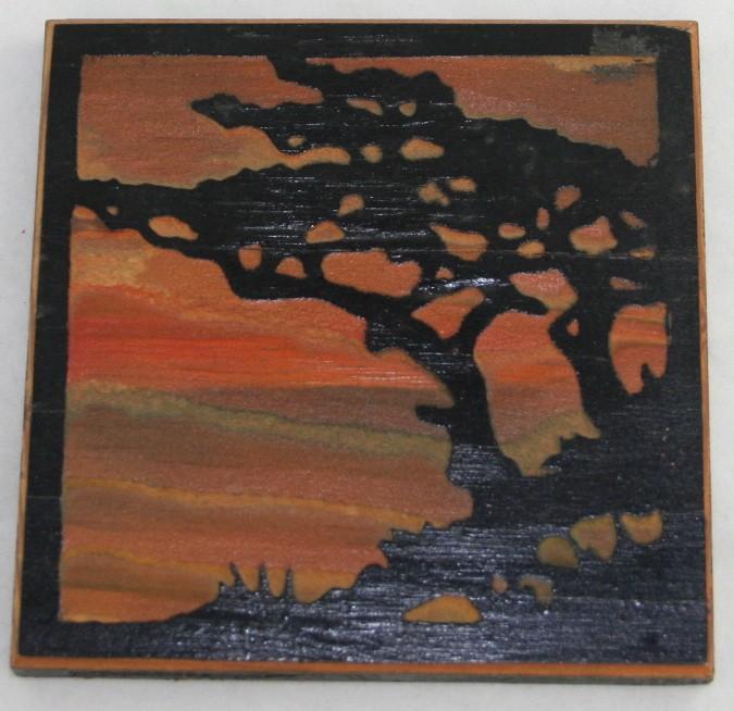 vintage sculpture, bas relief, wood carving, 1924,silhouette