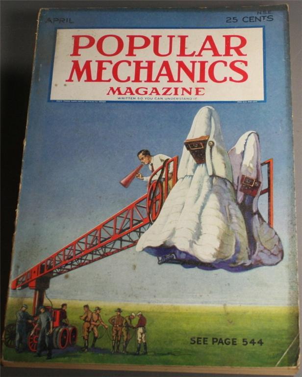 vintage magazine, back issue, Popular Mechanics,April, 1931