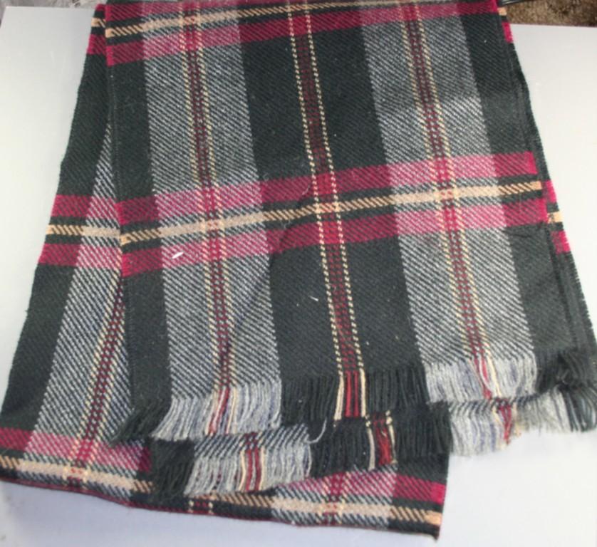 vintage scarf, wool,plaid
