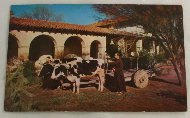 vintage postcard, California, CA,San Miguel,mission