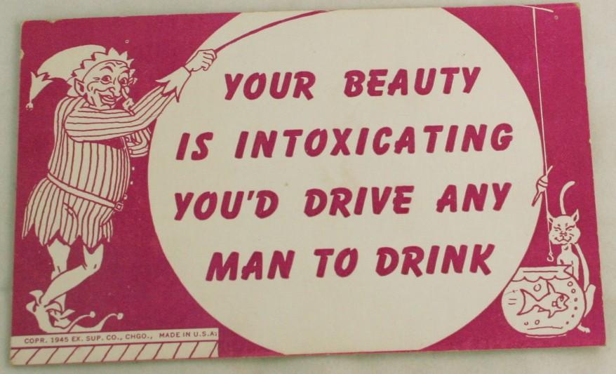 vintage postcard,mutoscope,comic,arcade card