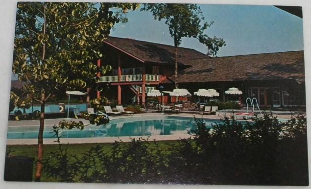 vintage postcard,resort,The Village Green,Cottage Grove, OR