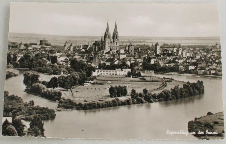 vintage postcard,Regensburg,Bavaria,Germany,Real Photo, RPPC