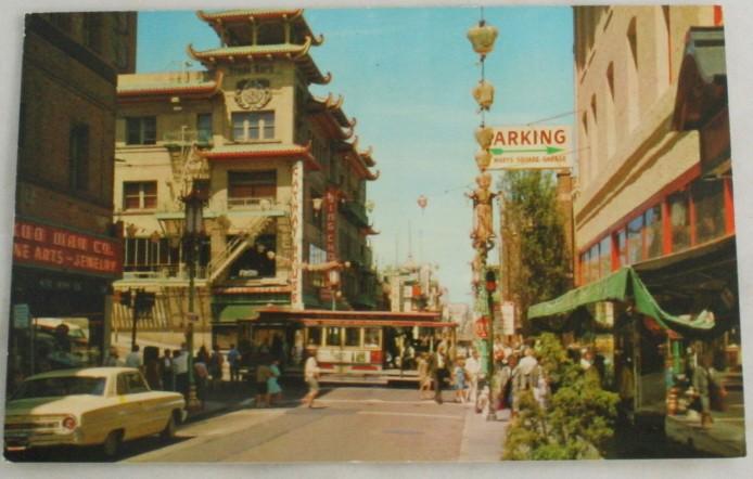vintage postcard,Chinatown,San Francisco, CA