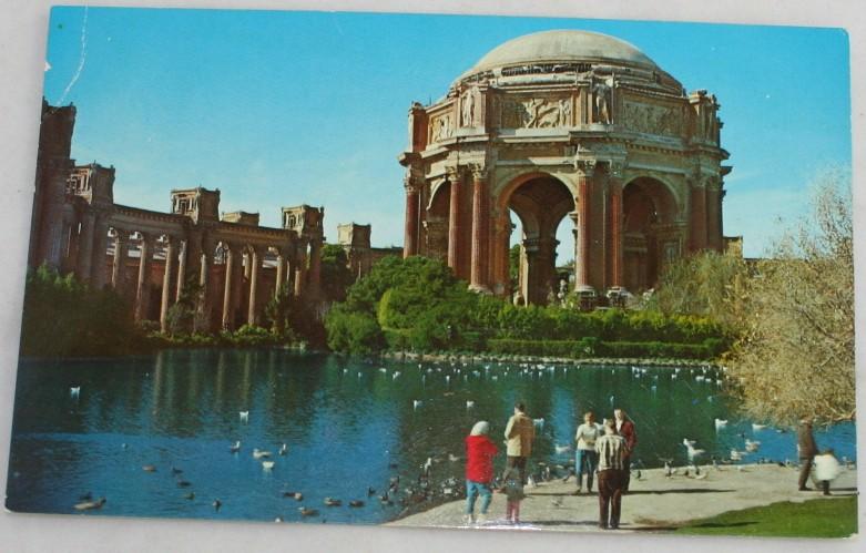 vintage postcard,Palace of Fine Arts,San Francisco, CA