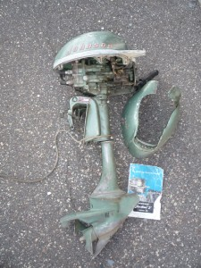 Vintage 1950's Johnson 3HP Sea Horse Outboard Motor Model ...