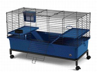 New deluxe rabbit ferret guinea pig cage w stand blue ebay for Guinea pig stand