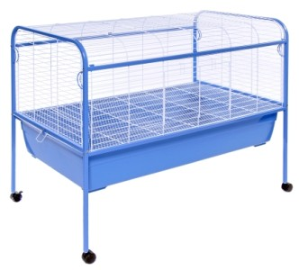 Xl rabbit guinea pig cage hutch 47x22x37 stand included ebay for Guinea pig stand