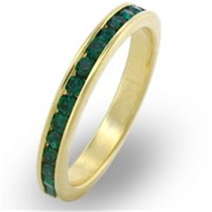 18K-GOLD-EP-EMERALD-ROUND-ETERNITY-RING-7-or-O