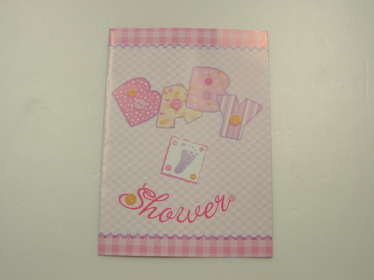 baby stitching pink baby shower paper plates napkins cups invites