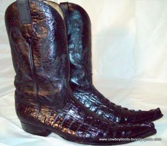 preowned s genuine custom made alligator cowboy