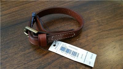 Ralph Lauren Polo Mens Equestrian Leather Brown Bracelet