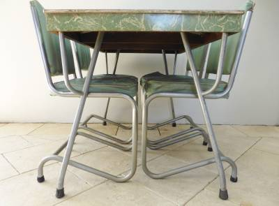 retro vintage 1950s formica laminex table 4 chairs chrome dinette