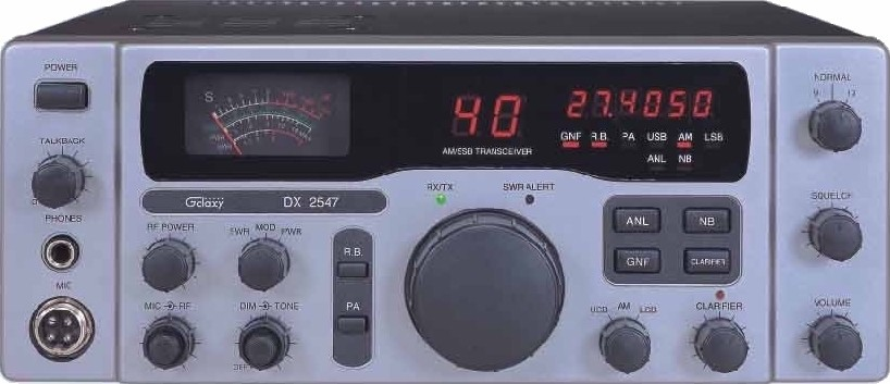 Galaxy DX2547 11 Meter AM/SSB CB Radio
