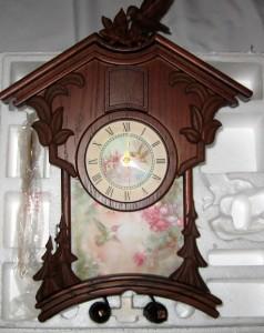 Bradford exch timeliness garden treasures cuckoo clock ebay for Garden treasures pool clock