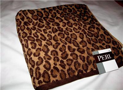 Peri Leopard Print 3 Piece Bath Towel Set Nwt Ebay