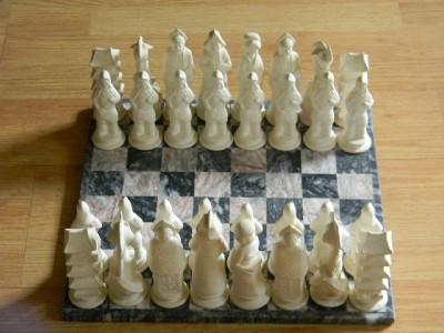 Ceramic chess set unique chess set unfinished unglazed ebay - Ceramic chess sets for sale ...