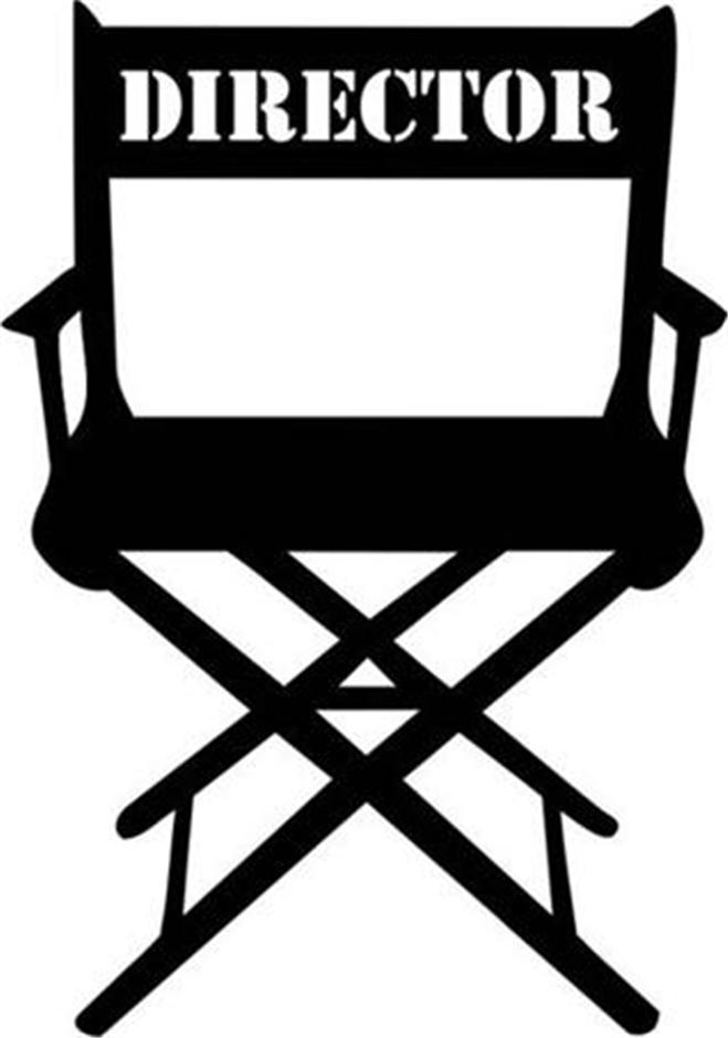 Clip Art Directors Chair As Well As Tall Directors Chair Together ...