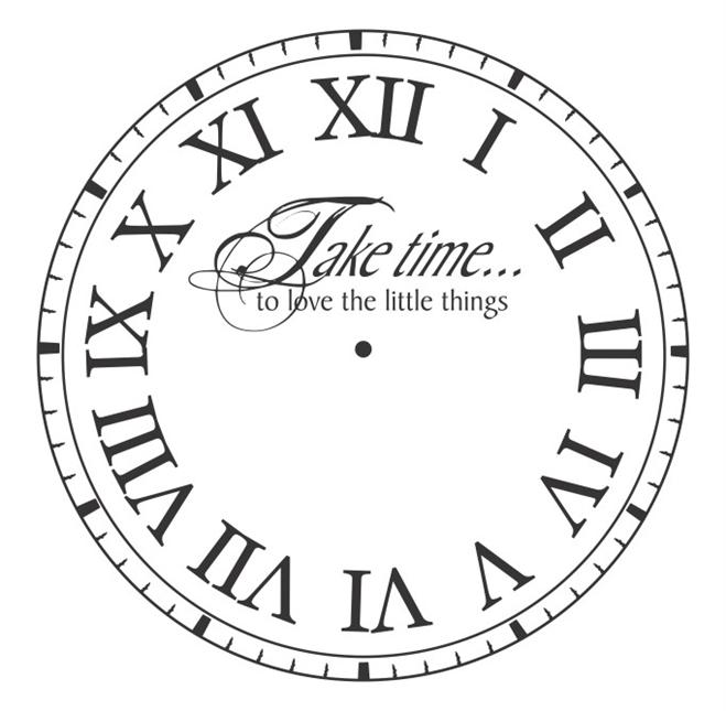 vinyl clock face take time to cf019 vinyl wall decal
