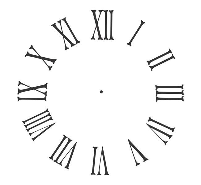 Vinyl Clock Face...Roman...CF002...Vinyl Wall Decal Sticker Home Decor ...