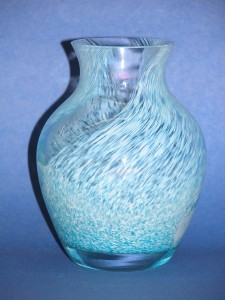 "Amazon.com: 11"" Blue Crystal Vase - Legend Collection Bohemia"