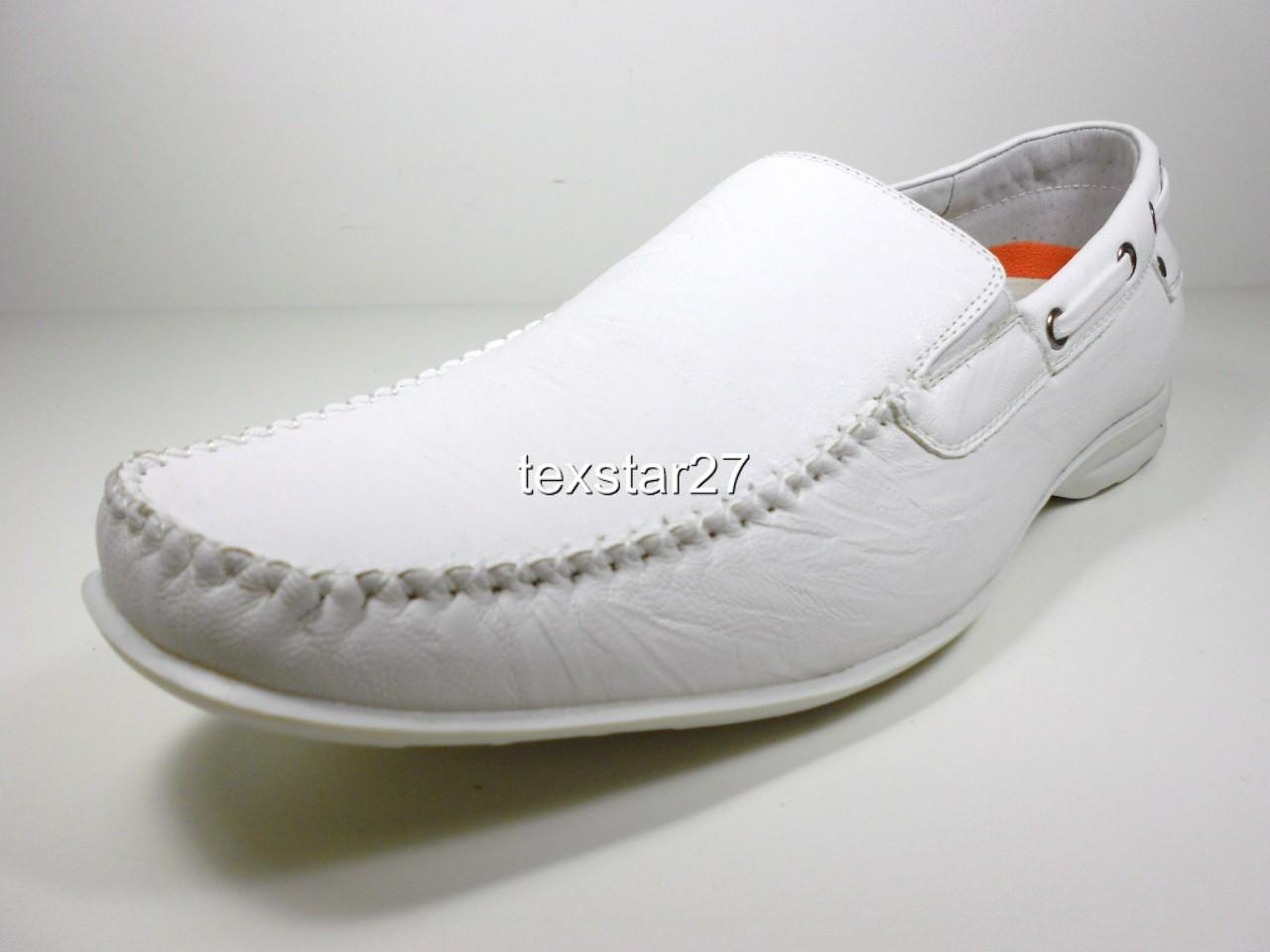 mens white d aldo driving moccasins styled in italy plain