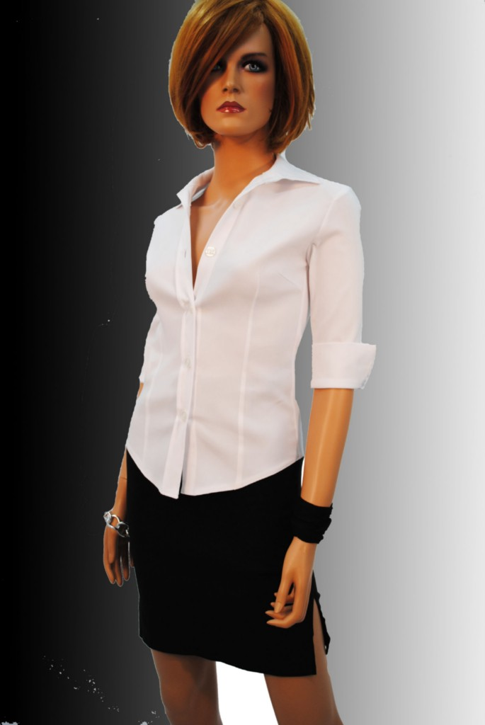 Elegant Fitted Lace Blouse - Breeze Clothing