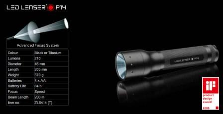 NEW-Led-Lenser-P14-Cree-Torch-Flashlight-FREE-Belt-Clip-4-Camping-HUNTING-Tools