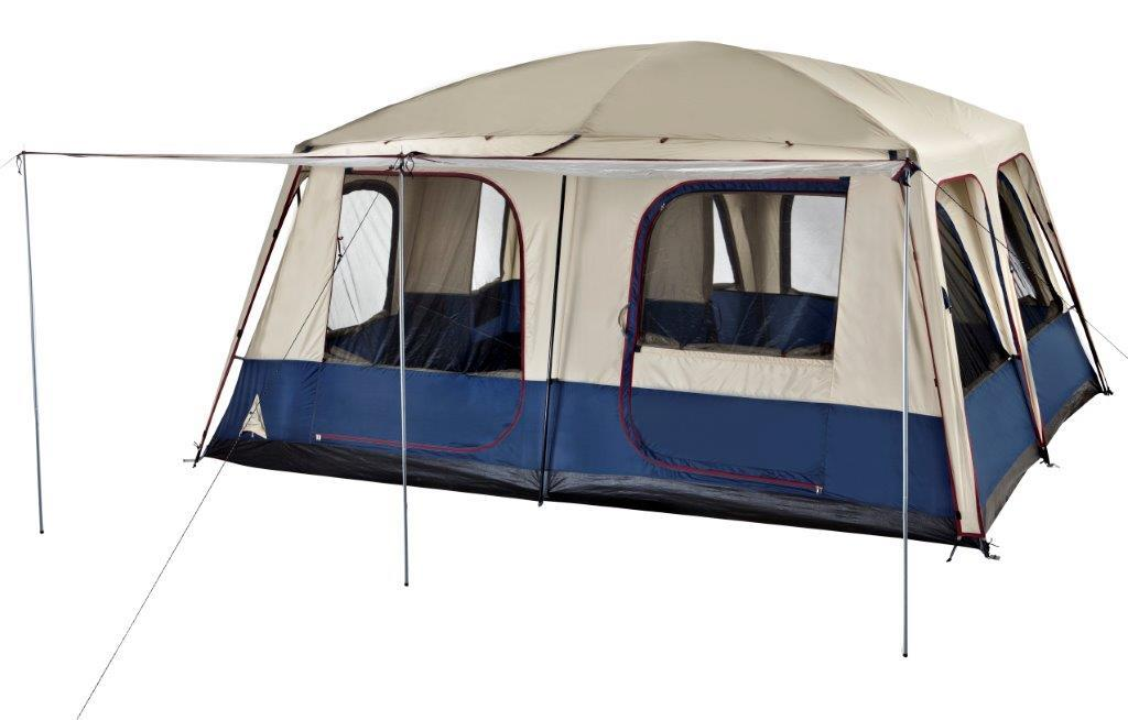 NEW-Oztrail-LODGE-COMBO-12-Man-Person-FAMILY-TENT-Camping-CARAVAN-Awning