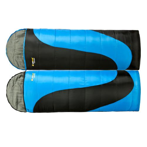 NEW-OZtrail-Tasman-TWIN-PACK-Double-SLEEPING-BAG-5-DEGREES-Camping-HIKING