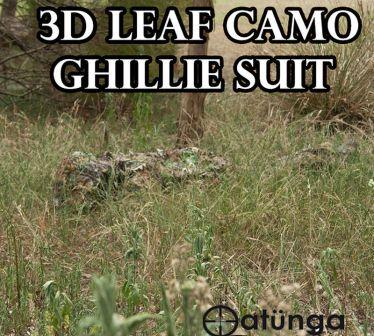 NEW-LEAF-Ghillie-SUIT-Costume-PAINTBALL-Hunting-SNIPER-Tactical-SIZE-SMALL