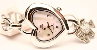 Jennifer Lopez JLO Ladies Heart Shape Pearl Dial Watch